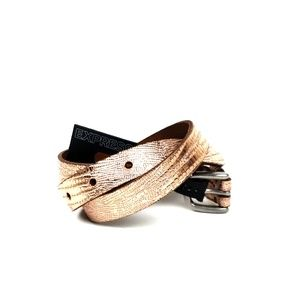 NWT Express Rose Gold Genuine Leather Belt